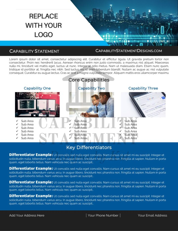Capability Statement for Technology Company
